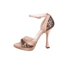 Dior Dent Rose Moyen Ankle Strap Sandal